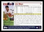 2005 Topps #417  Joe Mays  Back Thumbnail