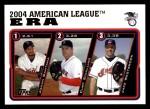 2005 Topps #341   -  Johan Santana / Curt Schilling / Jake Westbrook AL ERA Leaders Front Thumbnail