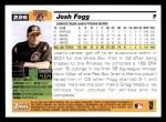2005 Topps #226  Josh Fogg  Back Thumbnail
