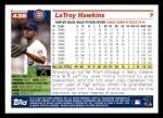 2005 Topps #438  LaTroy Hawkins  Back Thumbnail
