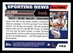 2005 Topps #723   -  J.D. Drew All-Star Back Thumbnail