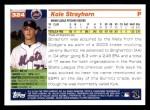 2005 Topps #324  Kole Strayhorn  Back Thumbnail