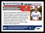 2005 Topps #281  Jim Tracy  Back Thumbnail
