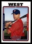 2005 Topps #317  Kevin West  Front Thumbnail