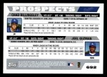 2005 Topps #692   -  Chad Billingsley / Joel Guzman Braves Prospects Back Thumbnail