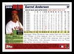 2005 Topps #369  Garret Anderson  Back Thumbnail