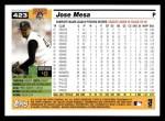 2005 Topps #423  Jose Mesa  Back Thumbnail
