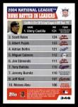 2005 Topps #346   -  Vinny Castilla / Scott Rolen / Albert Pujols Leaders Back Thumbnail