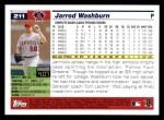 2005 Topps #211  Jarrod Washburn  Back Thumbnail
