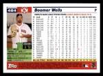 2005 Topps #484  Boomer Wells  Back Thumbnail