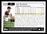 2005 Topps #534  Jon Garland  Back Thumbnail