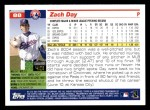 2005 Topps #88  Zach Day  Back Thumbnail