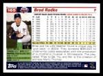 2005 Topps #165  Brad Radke  Back Thumbnail