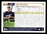 2005 Topps #4  Lyle Overbay  Back Thumbnail