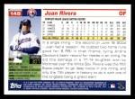 2005 Topps #145  Juan Rivera  Back Thumbnail