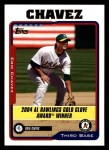 2005 Topps #699   -  Eric Chavez Golden Glove Front Thumbnail