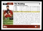 2005 Topps #111  Tim Redding  Back Thumbnail