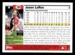 2005 Topps #9  Jason LaRue  Back Thumbnail