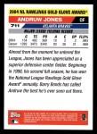 2005 Topps #711   -  Andruw Jones Golden Glove Back Thumbnail