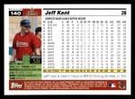2005 Topps #140  Jeff Kent  Back Thumbnail