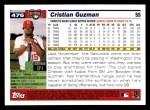 2005 Topps #476  Cristian Guzman  Back Thumbnail