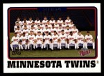 2005 Topps #654   Minnesota Twins Team Front Thumbnail