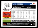 2006 Topps #92  Lance Cormier  Back Thumbnail