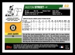 2006 Topps #82  Huston Street  Back Thumbnail