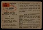 1954 Bowman #64  Ray Renfro  Back Thumbnail
