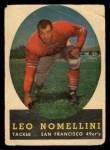 1958 Topps #89  Leo Nomellini  Front Thumbnail