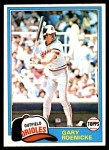 1981 Topps #37  Gary Roenicke  Front Thumbnail
