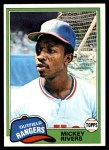 1981 Topps #145  Mickey Rivers  Front Thumbnail