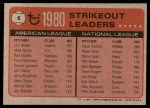 1981 Topps #6   -  Steve Carlton / Len Barker ERA Leaders Back Thumbnail