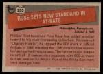 1981 Topps #205   -  Pete Rose Record Breaker Back Thumbnail