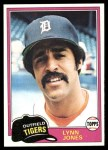 1981 Topps #337  Lynn Jones  Front Thumbnail