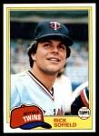 1981 Topps #278  Rick Sofield  Front Thumbnail