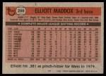 1981 Topps #299  Elliott Maddox  Back Thumbnail
