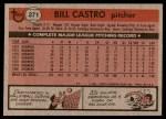 1981 Topps #271  Bill Castro  Back Thumbnail