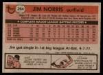1981 Topps #264  Jim Norris  Back Thumbnail