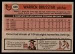 1981 Topps #426  Warren Brusstar  Back Thumbnail
