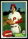 1981 Topps #426  Warren Brusstar  Front Thumbnail