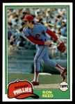 1981 Topps #376  Ron Reed  Front Thumbnail