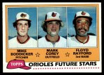 1981 Topps #399   -  Floyd Rayford  /  Mike Boddicker  /  Mark Corey Orioles Front Thumbnail