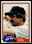 1981 Topps #378  Dave Rader  Front Thumbnail