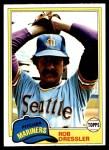 1981 Topps #508  Rob Dressler  Front Thumbnail