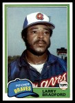 1981 Topps #542  Larry Bradford  Front Thumbnail
