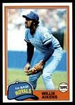 1981 Topps #524  Willie Aikens  Front Thumbnail