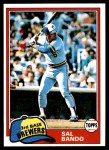 1981 Topps #623  Sal Bando  Front Thumbnail
