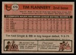 1981 Topps #579  Tim Flannery  Back Thumbnail