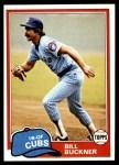 1981 Topps #625  Bill Buckner  Front Thumbnail